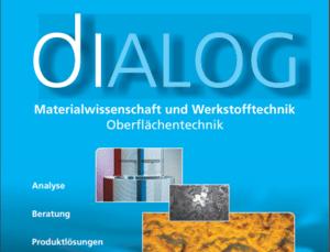 Fachartikel über elektronenstrahlgehärtete bewitterungsstabile Lackoberflächen in der aktuellen Ausgabe diALOG zum Thema Oberflächentechnik